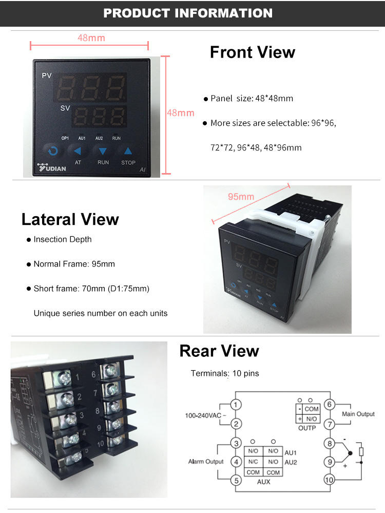 Yudian AI-208 Digital PID Temperature Controller