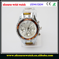 Hot Selling lady Alloy amber watch