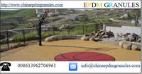Rubber Premium Sport Court Tiles for Basketball/Color EPDM Rubber Granules