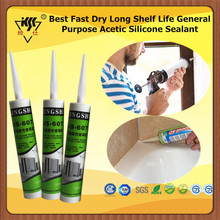 Best Fast Dry Long Shelf Life General Purpose Acetic Silicone Sealant