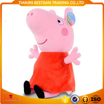 Bestdan factory custom logo popular cartoon plush animal pig toy peppa