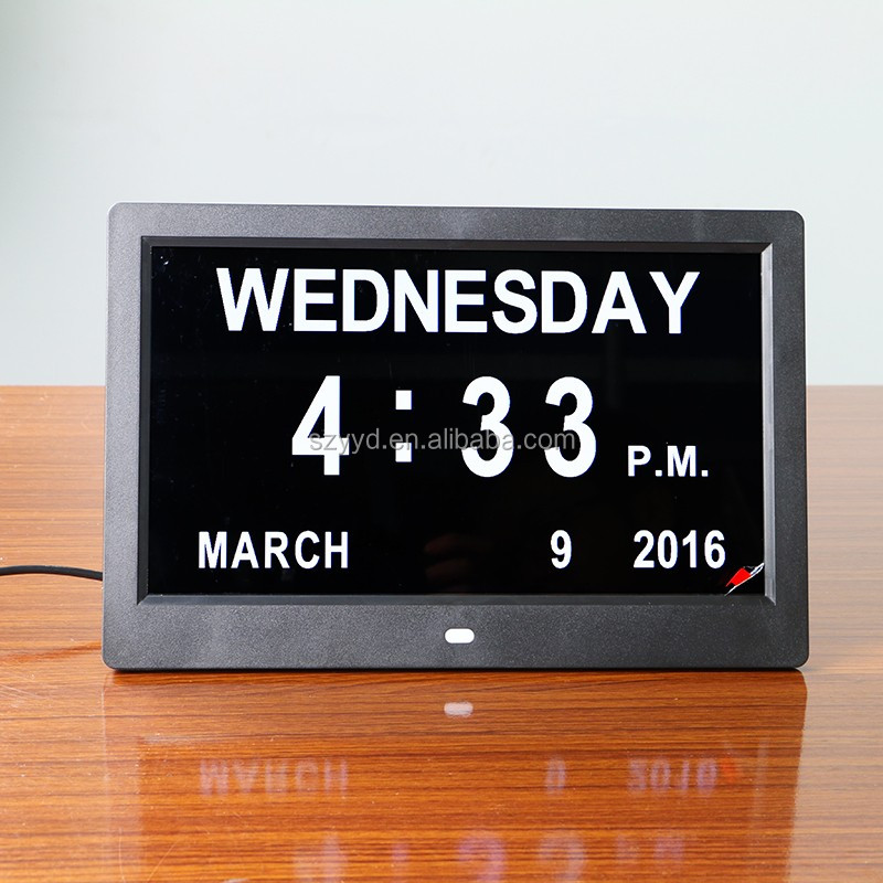 2016 warm hearted directly supply digital desktop clock calendar with latest popular design