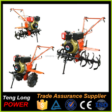 Top quality agriculture diesel engine power tiller trailer with long rotary tiller blades