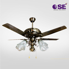 Vintage Design Ac Classic Style Led Light Ceiling Fan In Mess Hall