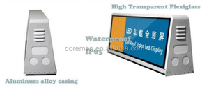 Coreman P10 P5 taxi top screen led 96x32 / outdoor taxi advertising led P5 full color sign
