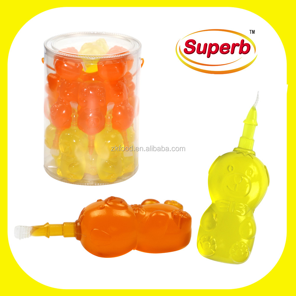 Cartoon bear shaped fruit flavor jelly 3d bear jelly