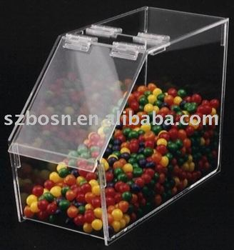 Acrylic Candy Box,Plexiglass Bulk Bin,Lucite Coffee Bean Dispenser
