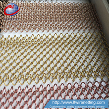 High quality cascade coil's woven wire fabric drapery for curtain