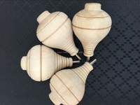 traditional toy wood color spinning top with rope