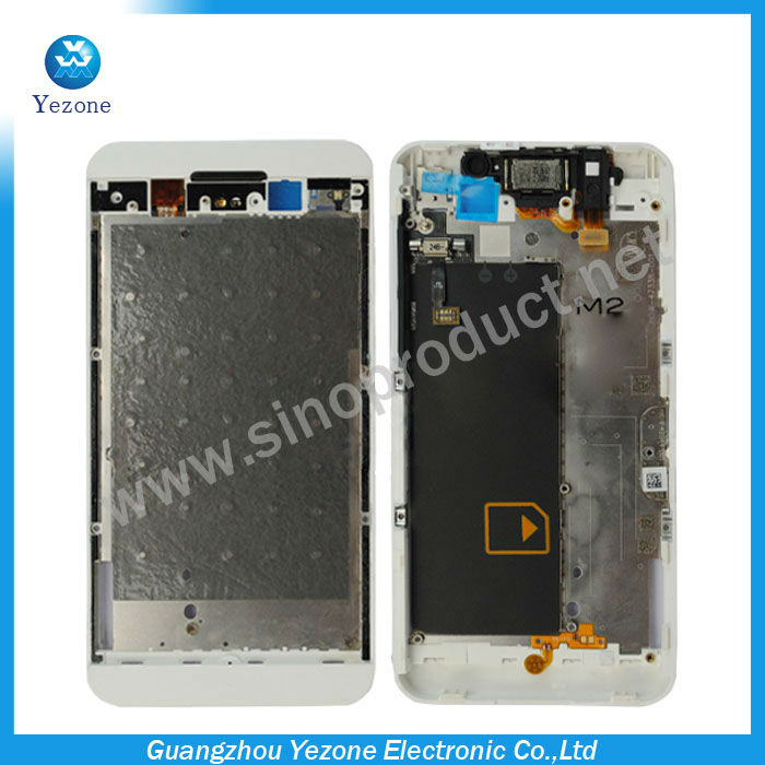 Middle Board with Side Button Key for BlackBerry Z10 White