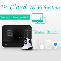 The factory directly offer wifi gsm GPRS security alarm system work with smoke detector support IP camera to check your house