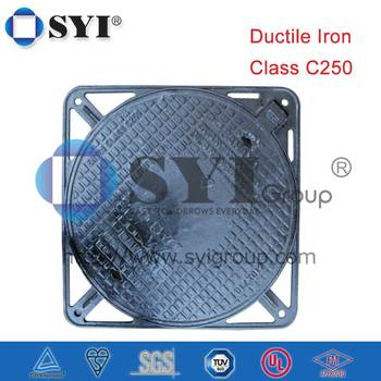 C250 Round Clear Opening 600/640 Hinged DI Manhole Cover