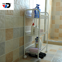 storage display 3 tier discount toilet metal shower mesh clothes shampoo standing home furniture corner bathroom rack shelf