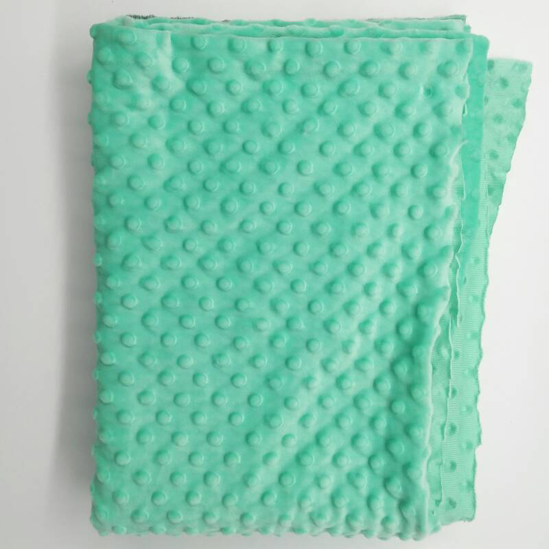 Wholesale stock super soft minky fabric manufacturer