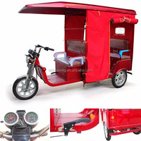 2016 new model 4 passengers electric tricycle 3 wheel auto e rickshaw