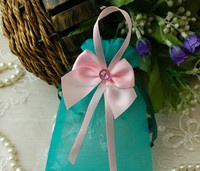 Customer Tea Gift Organza Tote Bags With Handle 17cm*23cm