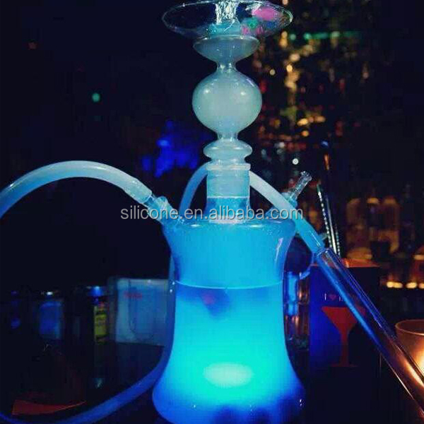 Wholesale custom arab shisha glass hookah with led