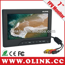 FPV LCD Monitor with 7 inch HD panel and AV inputs