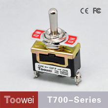 Toowei Hight Quality CE FCC Certification 15a 125v toggle switch boat use ON-OFF-ON 3 ways electronic toggle switch T701CT