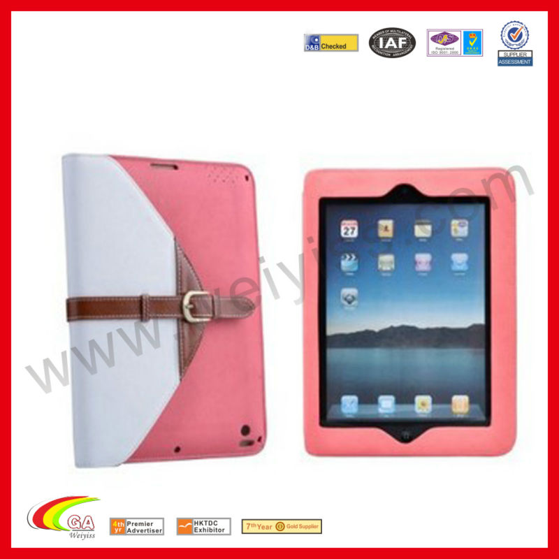 For the new ipad 3 back cover housing replacement,leather cover stand for iPad2, 3 & 4,fancy case for ipad 3