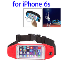 2015 new waterproof Sports Waist bag for iphone 6s with Earphone Hole