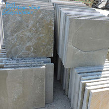 square shaped slate clabs for garden decor