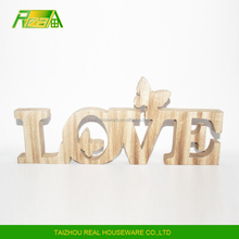Newest words love design wood crafts for wedding and gifts