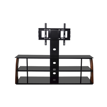 Swivel stand lcd bracket modern wood led tv wall unit stand wall cabinet design for tv