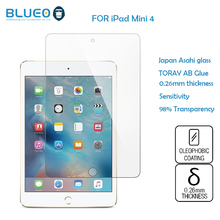 BLUEO Ultra Thin 0.26mm 9H HD clear Anti-Fingerprint for IPAD mini 4 glass screen protector