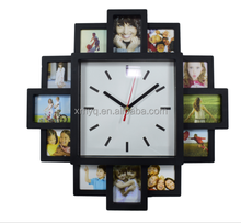 Home Decorative 12 Photo Frames Customized Diy wall Clock