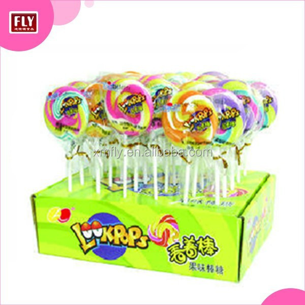 Display boxed stand up flat candy swirl windmill lollipop