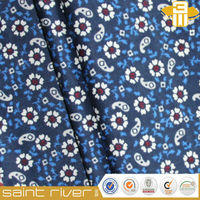 new fashion custom woven printed cotton poplin shirt fabric