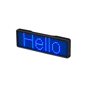 Global Language Programmable Rechargeable Name Tag LED Name Badge LED Signs