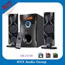 Cheap price professional 2.1 multimedia subwoofer system speaker with usb sd fm