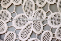 fancy polyester/cotton crochet lace embroidery fabric