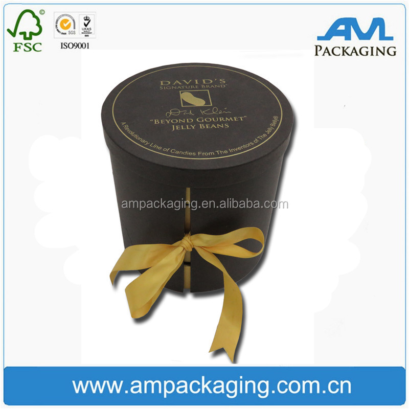 Round Tube Bespoke Packaging Gift Box Empty Cardboard Tea Packing Tin