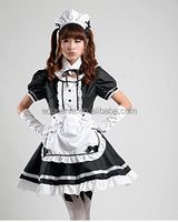 Sexy hot uniform costume dress maid fancy dress for halloween costumes