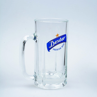 19oz 550ml customized logo and decals beer mug glass