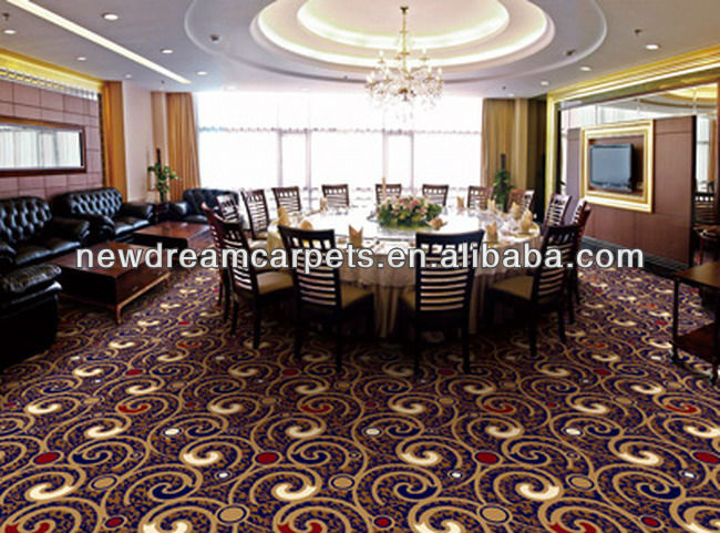 A five-star hotel banquet hall high quality axminster carpet