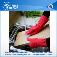 gloves latex household;household rubber gloves;brush cleaning glove