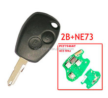 New Uncut Remote Car Key Fob 2 button 433MHz PCF7946 for Renault Clio Kangoo Modus Master