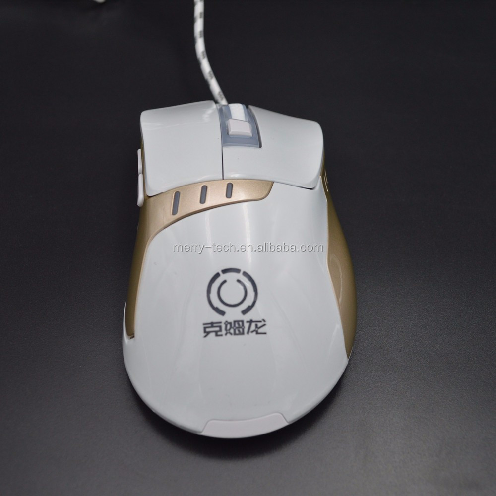 Cheap 3D Gaming Mouse with LED light 2400DPI Optical Adjustable Wired Usb Game Mice