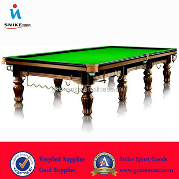 Cheap Golden 12ft International Standard Snooker Table(Solid Wood 45mm Slate and Steel Cushion)
