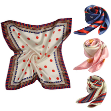 Hot fashion hangzhou 53*53cm square silk scarf ladies china factory customized custom 100% silk screening scarf