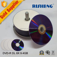 5/25/50Pieces Blank full Printable 240min DVD+R DL 8x Dual Layer 8.5GB D9 DVD R DL disc