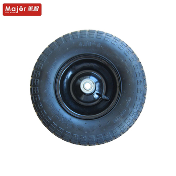 Pneumatic rubber tyre 4.00-6 inflatable wheels