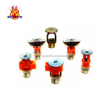 Fire protection system different types quick response flexible brass fire sprinkler with good price