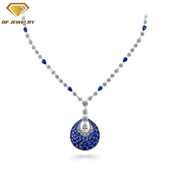 beautiful jewelry silver pendant micro pave cz necklace for women