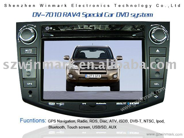 7'' in dash car dvd gps/car multimedia system with GPS