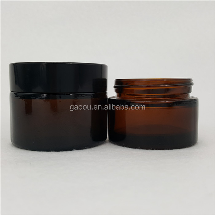 50ml Screw Cap Sealing Type and Skin Care Cream Use glass jar